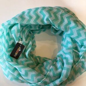 Chevron Patterned Circle Scarf
